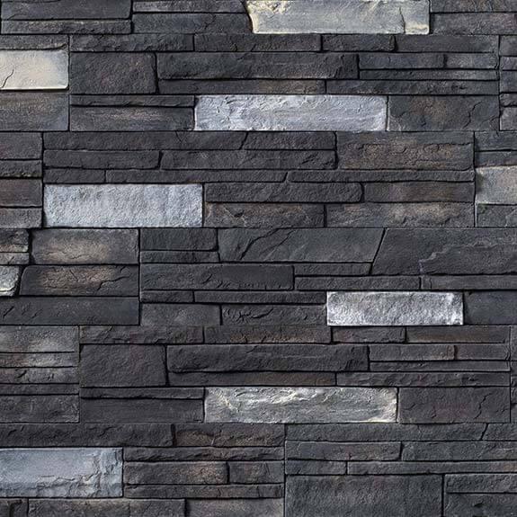 Graphite Versetta Stone Siding